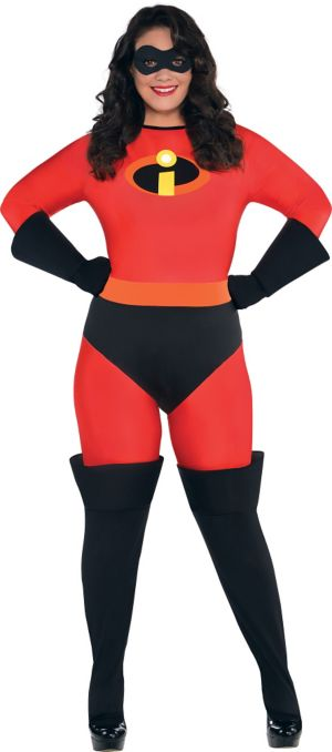 Adult Mrs. Incredible Costume Plus Size - The Incredibles