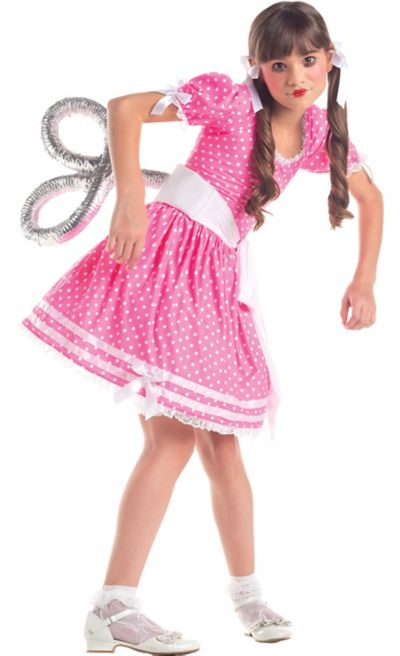 Girls Wind-Up Doll Costume
