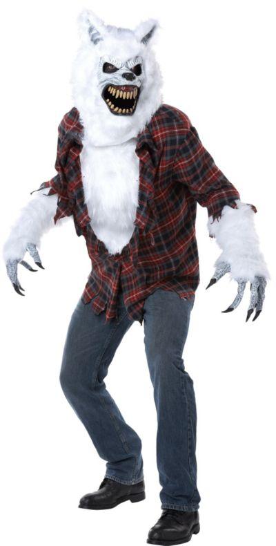 Adult White Werewolf Costume