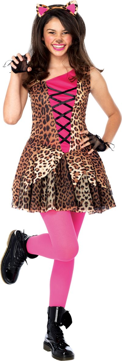 Teen Girls Jungle Kitty Costume - Cat