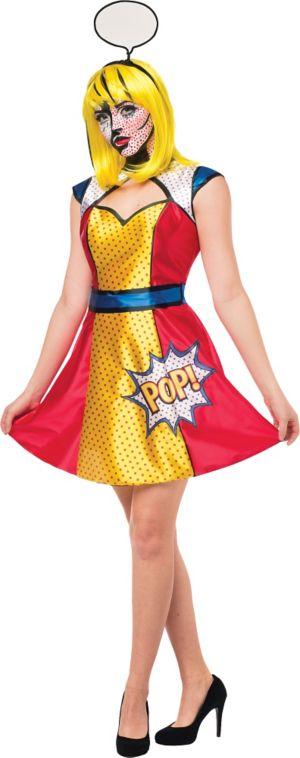 Adult Pop Art Woman Costume