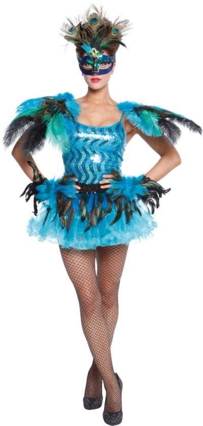 Adult Sparkling Peacock Costume