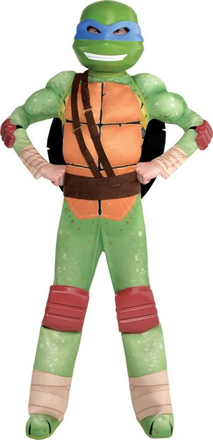 Boys Leonardo Muscle Costume - Teenage Mutant Ninja Turtles