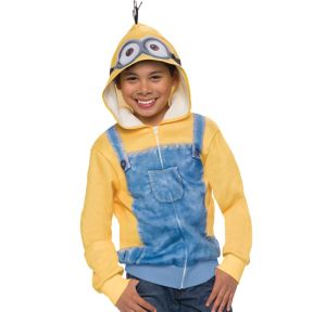 Child Minion Zip-Up Hoodie - Minions Movie