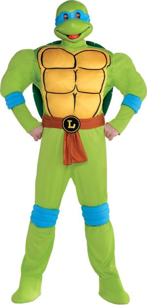 Adult Leonardo Muscle Costume Plus Size - Teenage Mutant Ninja Turtles