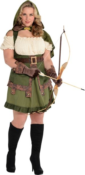 Adult Lady Robin Hood Costume Plus Size