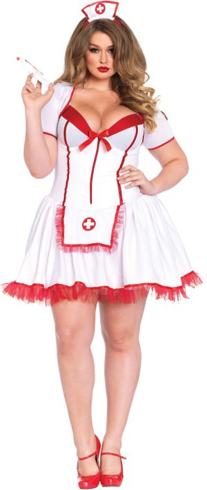 Adult Nurse Body Shaper Costume Plus Size