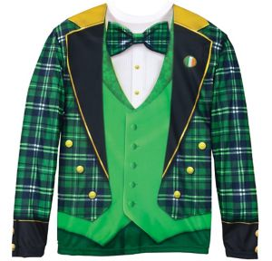 Green Plaid Jacket Long-Sleeve Shirt