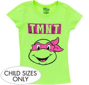 Child Pink Teenage Mutant Ninja Turtles T-Shirt