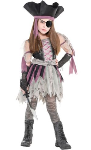 Little Girls Haunted Pirate Costume