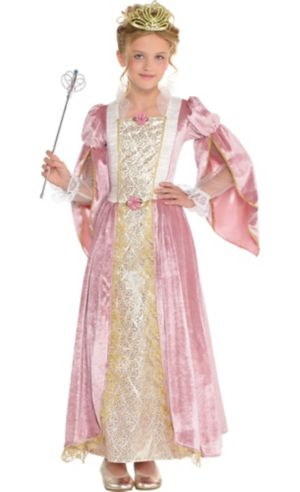 Girls Princess Rose Costume