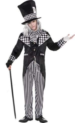 Adult Black & White Mad Hatter Costume