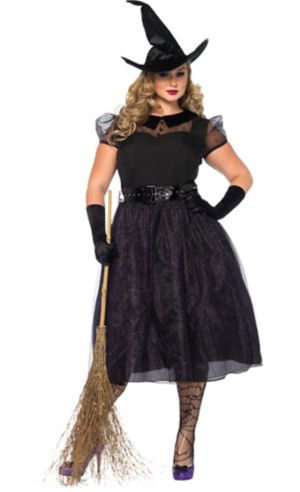 Adult Darling Spellcaster Witch Costume Plus Size