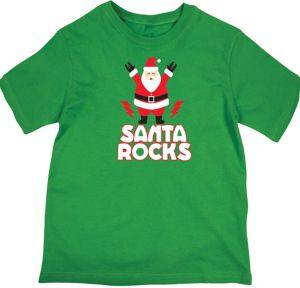 Santa Rocks Christmas T-Shirt