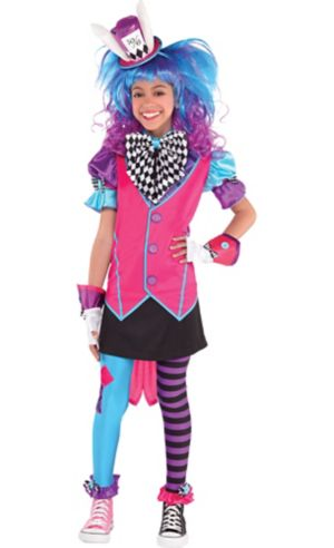 Girls Mad Hatter Costume Deluxe