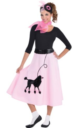 Adult Poodle Skirt Costume Deluxe