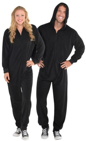 Adult Zipster Black One Piece Costume