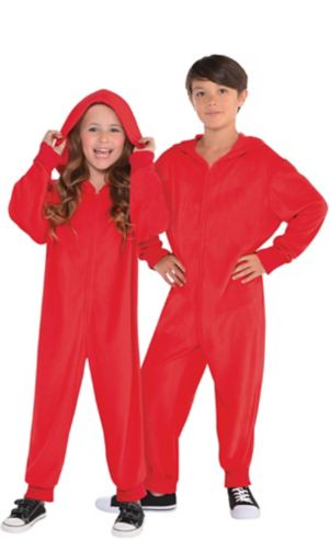 Child Zipster Red One Piece Costume
