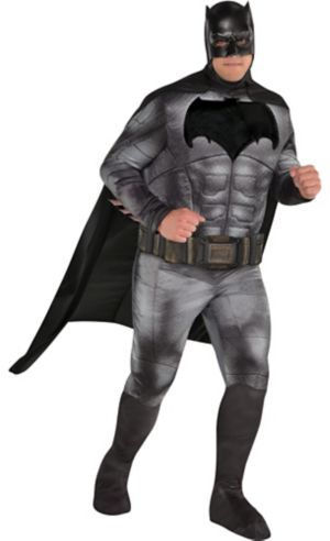 Adult Batman Muscle Costume Plus Size - Justice League Part 1