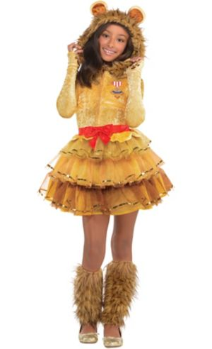 Girls Cowardly Lion Costume - Wizard of Oz