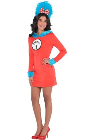 Adult Thing 1 & Thing 2 Dress Costume - Dr. Seuss