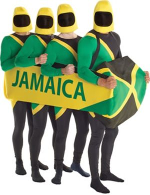 Adult Jamaican Bobsled Ride-On Costume