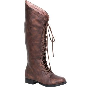Adult Brown Studded Boots