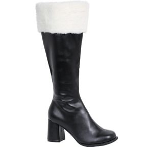 Adult Black Go-Go Boots