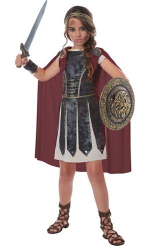 Little Girls Fearless Gladiator Costume