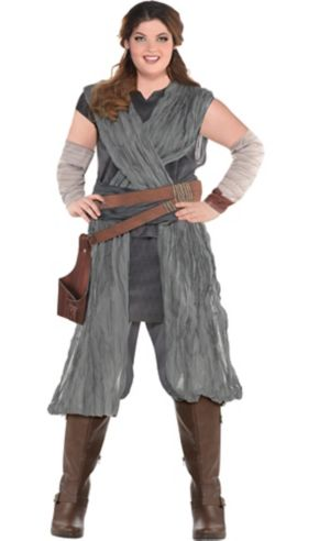 Adult Rey Costume Plus Size - Star Wars 8 The Last Jedi