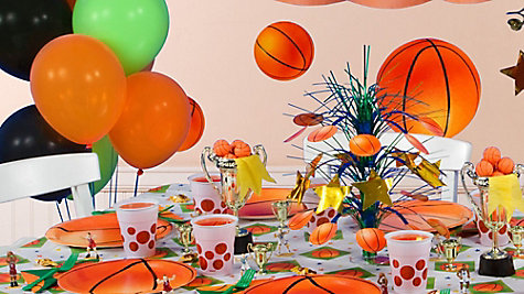 Basketball Party Table Idea