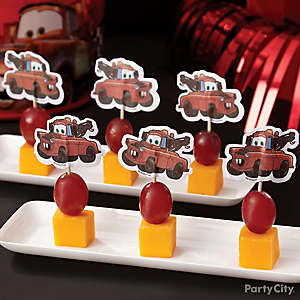 Cars Fruit and Cheese Mini Kabobs How To
