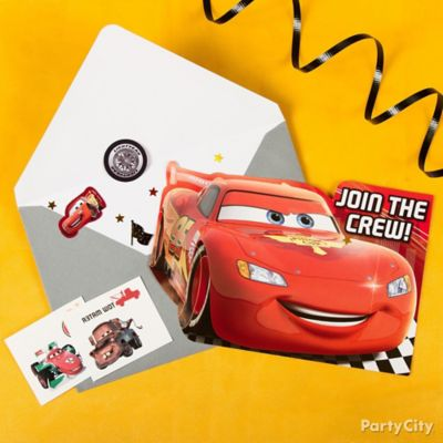 Cars Invite & Thank You Note Idea