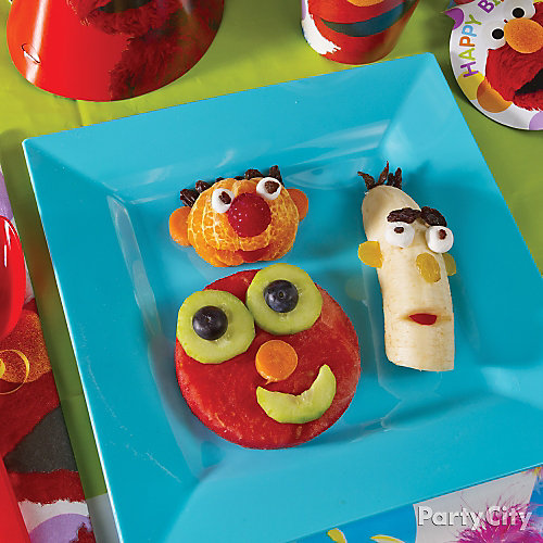 Elmo Fruit Faces Idea
