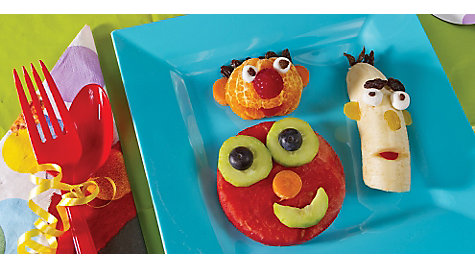 Elmo Fruit Faces Idea
