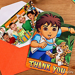 Go Diego, Go! Thank You Note Idea