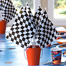 Hot Wheels DIY Centerpiece Idea