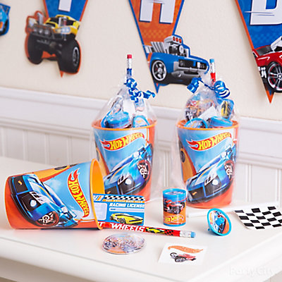 Hot Wheels Favor Cup Idea