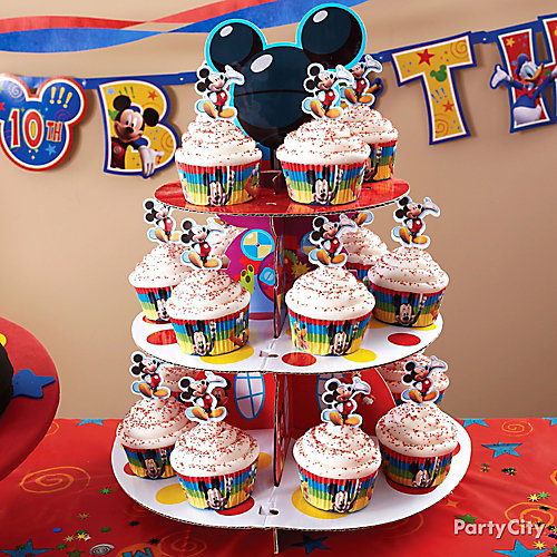Mickey Mouse Cupcake Tower How To