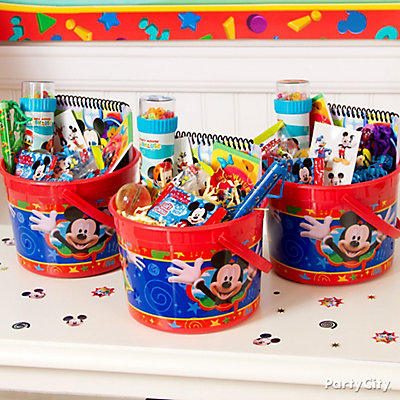 Mickey Mouse Favor Bucket Idea