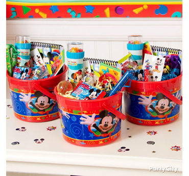 Mickey Mouse Favor Bucket Idea