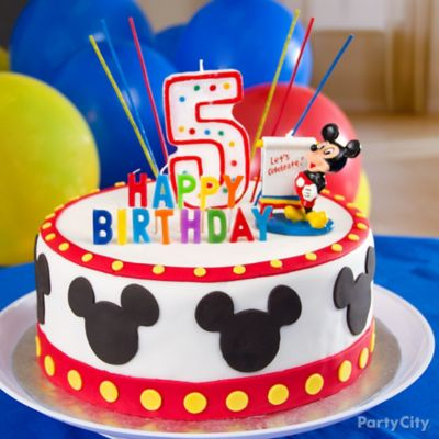 Mickey Mouse Cake How To Party City