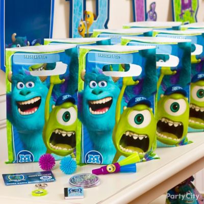 Monsters University Favor Pack for 8 Idea