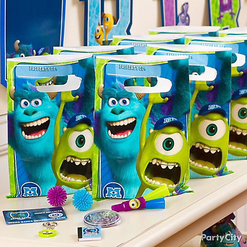 Monsters University Favor Pack for 8 Idea