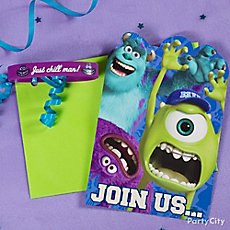 Monsters University Invite with Favor Idea