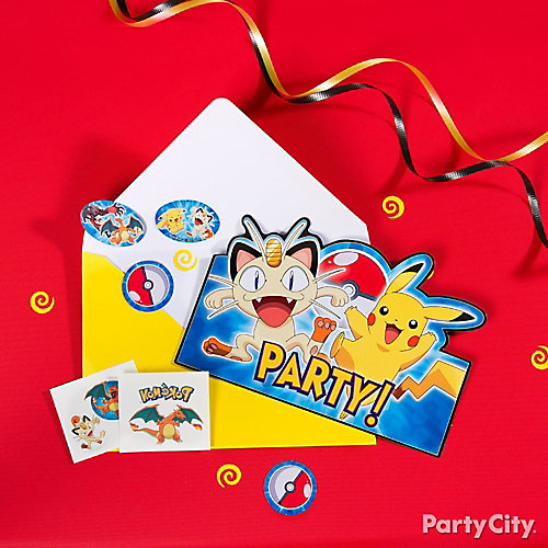 Pokemon Invitations with Surprise Idea Party City – Tattoo Party Invitations