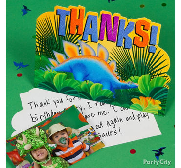 Prehistoric Dinosaur Thank You Note Idea
