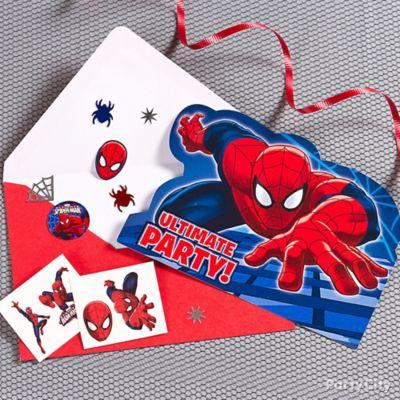 Spider Man Invite with Surprise Idea