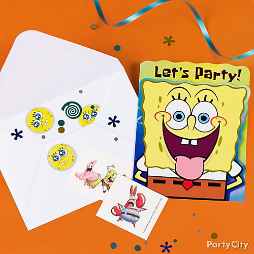 SpongeBob Invite with Surprise Idea