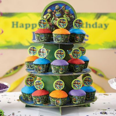 Teenage Mutant Ninja Turtles Cupcake Tower How To Party City